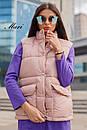 Женская жилетка стеганная с накладными карманами 63zi34, фото 2