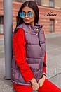 Женская жилетка стеганная с накладными карманами 63zi34, фото 3
