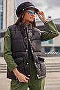 Женская жилетка стеганная с накладными карманами 63zi34, фото 5