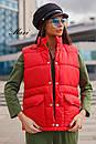 Женская жилетка стеганная с накладными карманами 63zi34, фото 6