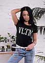 Женская прямая летняя футболка VLTN 55FT182, фото 2