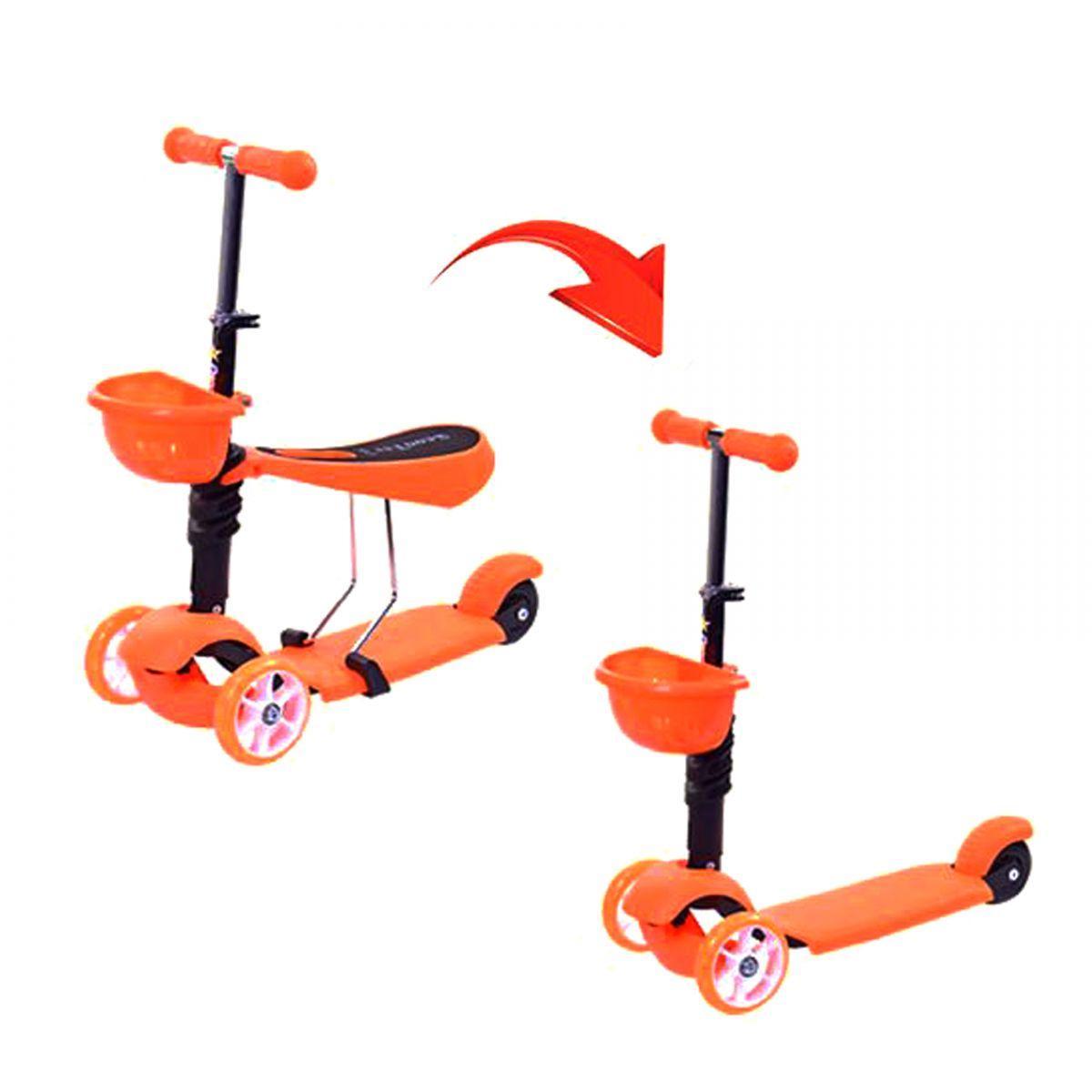 Самокат трехколесный ScooTer 3в1 SC17001 оранжевый
