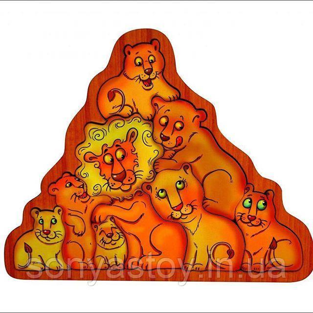 Головоломка Львы, Развивающая игрушка для детей