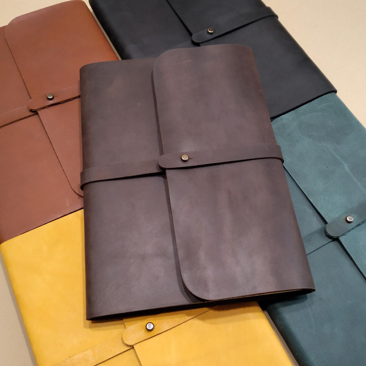 Софт-бук.Блокнот А5 в кожаной обложке ручной работы от мастерской Wood & Leather