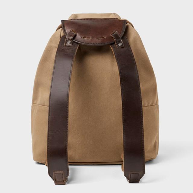 Брезентовый рюкзак Zara | вид сзади.