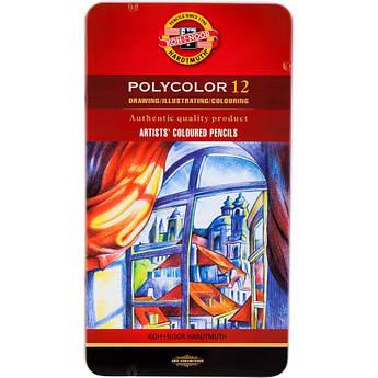 Набор цветных карандашей POLYCOLOR, 12 цв., мет. коробка, KOH-I-NOOR