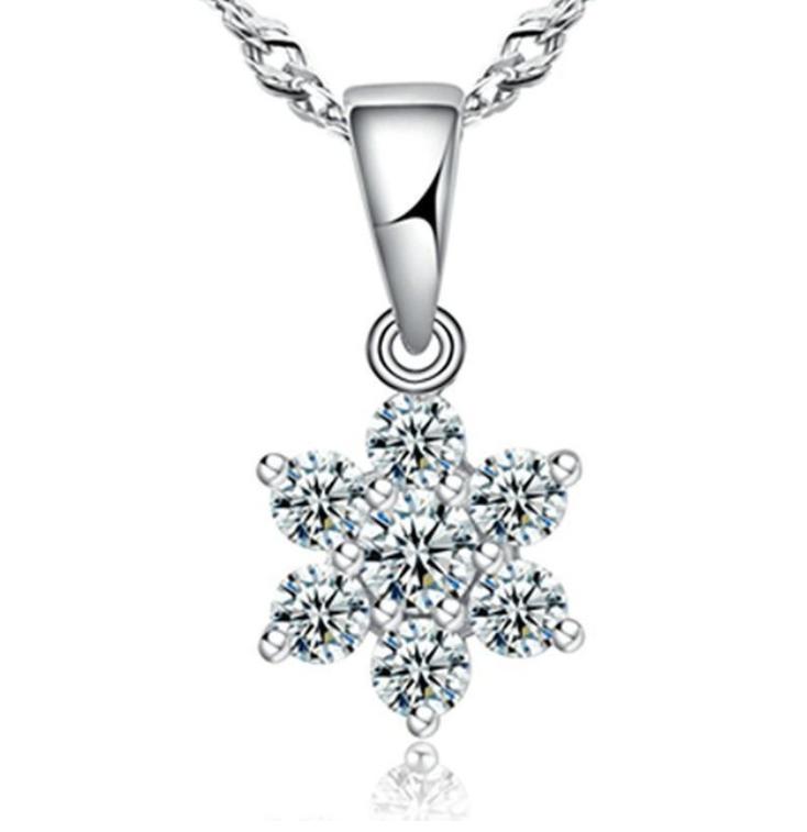 Кулон из серебра с белым камнем стерлинговое серебро 925 проба