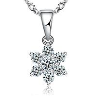 Кулон из серебра с белым камнем стерлинговое серебро 925 проба, фото 1