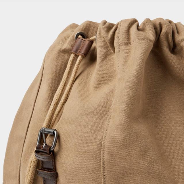 Брезентовый рюкзак Zara | вид сбоку.