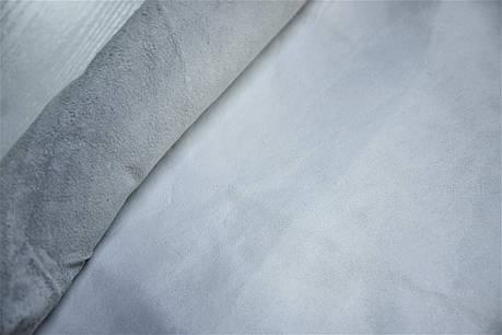 Кожа стелечная лаковая шевро, дц.Цвет белый., фото 2