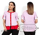 Женская коттоновая рубашка в батале на лето 1BA1563, фото 3