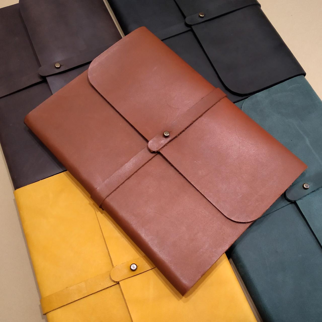 70f109c92a37 Блокнот А5 в кожаной обложке ручной работы от мастерской Wood & Leather