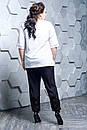 Женский брючный костюм с футболкой в больших размерах 10BA1583, фото 3