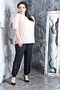 Женский брючный костюм с футболкой в больших размерах 10BA1583, фото 4