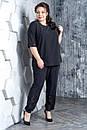 Женский брючный костюм с футболкой в больших размерах 10BA1583, фото 5
