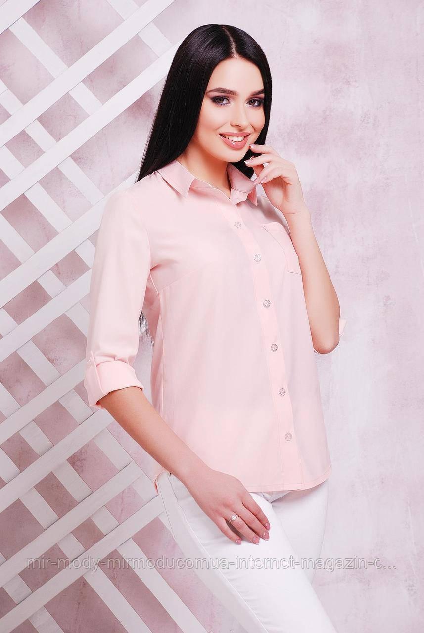 Блуза 1710 персик (5 цвета) 42 по 50 размер(мас)