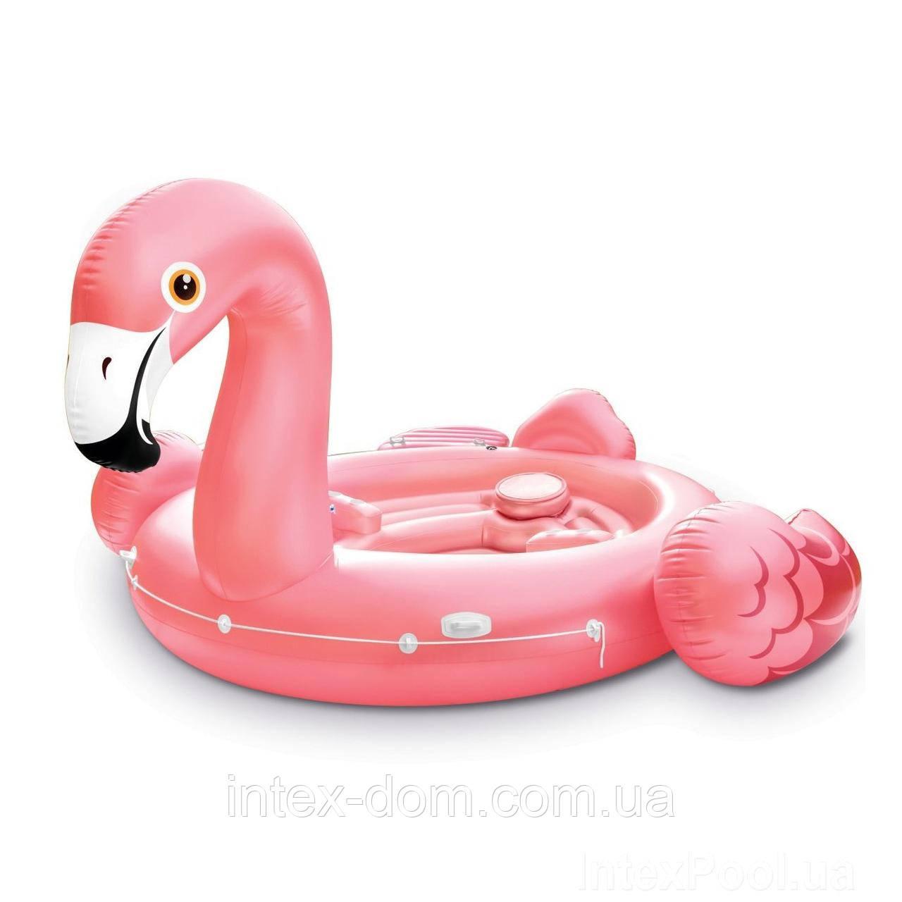 Пляжный надувной остров для вечеринок Intex 57267 «Фламинго» (422 х 373 х 185 см )