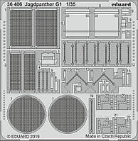 Набор деталировки для модели Jagdpanther G1 от MENG. 1/35 EDUARD 36406