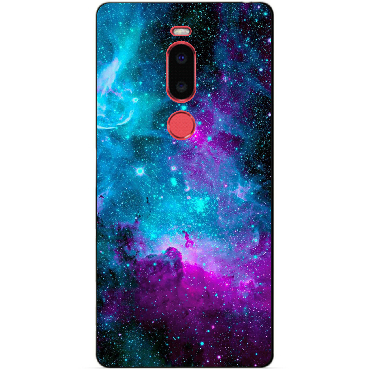Чехол силиконовый для Meizu M8 с рисунком Галактика