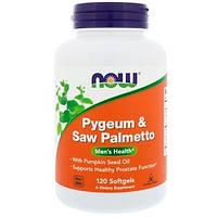 Now Foods, пиджеум и пальма сереноа, 120 таблеток. Сделано в США., фото 1