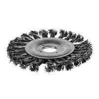 Щетка дисковая из плетеной проволоки D125*22,2мм