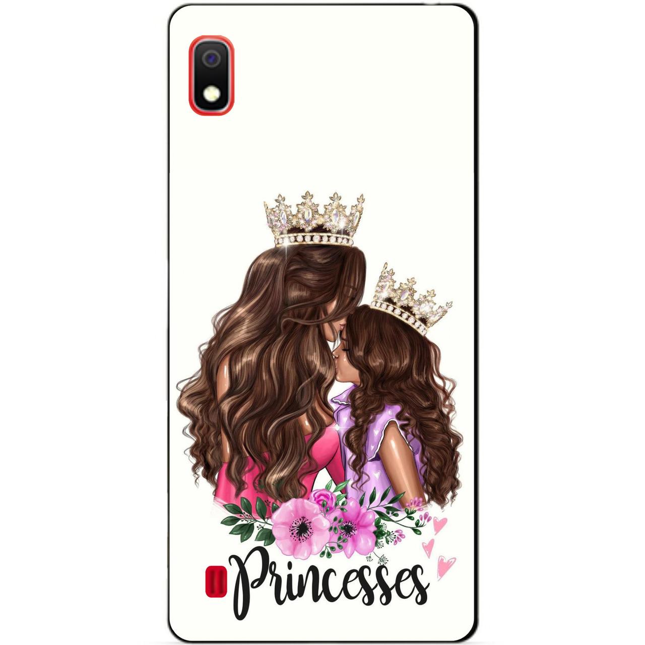 Силиконовый чехол для Samsung A10 с рисунком Принцесс