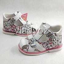 Детские босоножки сандалии сандали для девочек кожаные белые tom.m 23р., фото 3