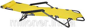 Шезлонг лежак Bonro 178 см желтый, фото 2