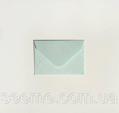Конверт 93х64 мм, цвет морозная мята (cool mint).