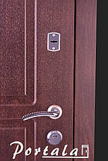 Двери уличные в наличии, серия Элегант, модель №4, гнутый профиль, с ковкой, со стеклопакетом, фото 2