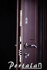 Двери уличные в наличии, серия Элегант, модель №4, гнутый профиль, с ковкой, со стеклопакетом, фото 3