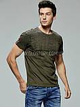 Чоловіча футболка з лампасами, фото 3