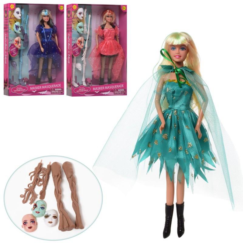 Набор вечеринка Маскарад - Кукла типа барби на маскараде, кукла Дефа Defa маскарад, маски, аксессуары, 8397-BF