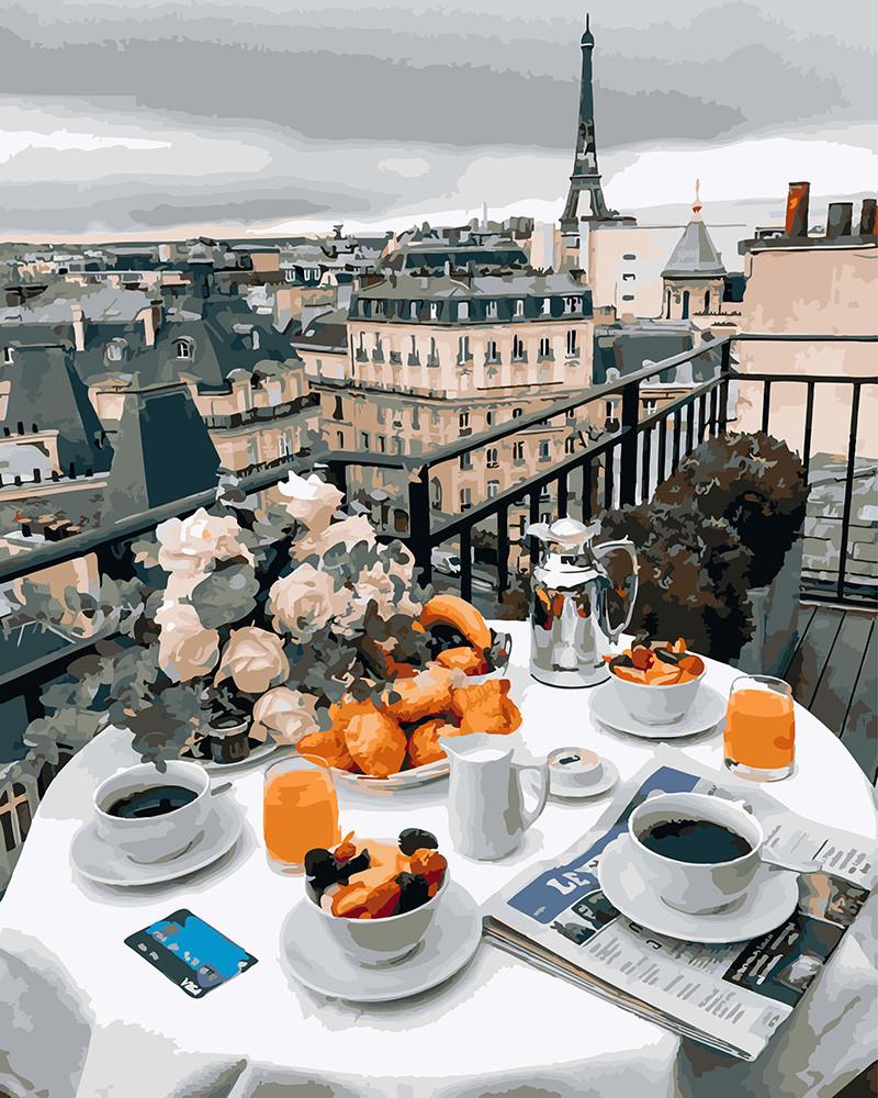 Картина по Номерам 40x50 см. Бизнес завтрак в Париже
