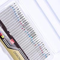 Набор алмазных насадок для аппаратного маникюра 30 штук, фото 1