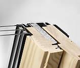 Мансардное окно VELUX Стандарт Плюс GLL 1061, ручка сверху, дерево/лак, 2-камерный, 66х118, фото 3