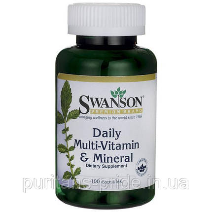 Swanson multi and mineral 100 capsules, фото 2