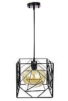 """Люстра потолочная подвесная в стиле """"LOFT"""" (лофт) (35х24х34 см.) Черный матовый YR-12120/1"""
