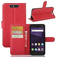 Чехол-книжка Litchie Wallet для ZTE Blade V8 Красный