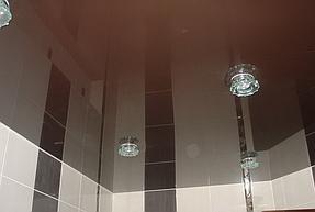 Натяжные потолки ванная. 2
