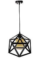 """Люстра потолочная подвесная в стиле """"LOFT"""" (лофт) (35х31х31 см.) Черный матовый YR-12203/1"""