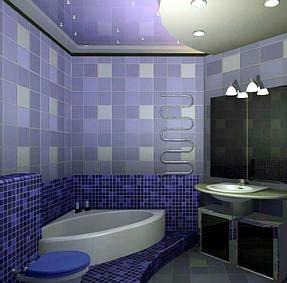 Натяжные потолки ванная. 29