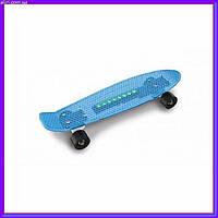 Детский Скейт с подсветкой DOLONI TOYS 0151/1 голубой
