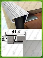 Z - образный профиль под плитку 12мм ПЛ 209.   Серебро (анод)