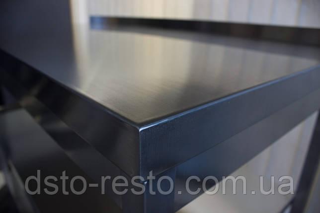 Стол из нержавейки без нижней полки 1200/600/850 мм, фото 2
