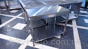 Стол производственный с полкой из оцинковки 1200/600/850 мм, фото 2