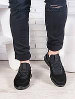 Мужские черные кроссовки 6990-28