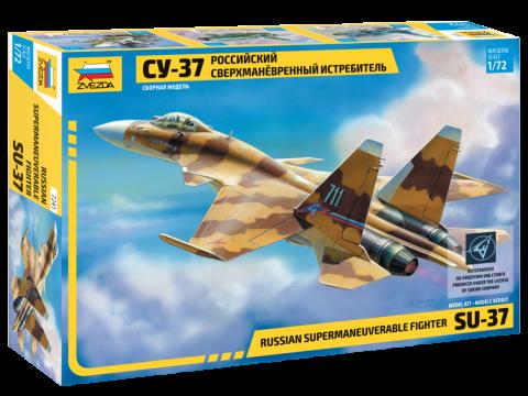 Российский сверхманевренный истребитель Су-37. 1/72 ZVEZDA 7241, фото 2