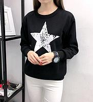 Женский свитшот Star черный 42 44