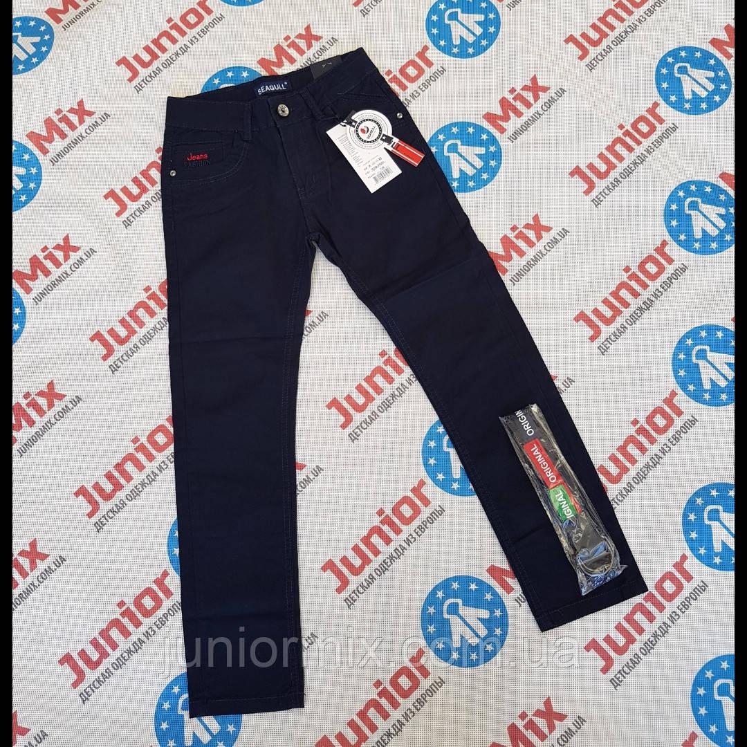 Детские котоновые брюки синего цвета для мальчиков оптом  SEAGULL